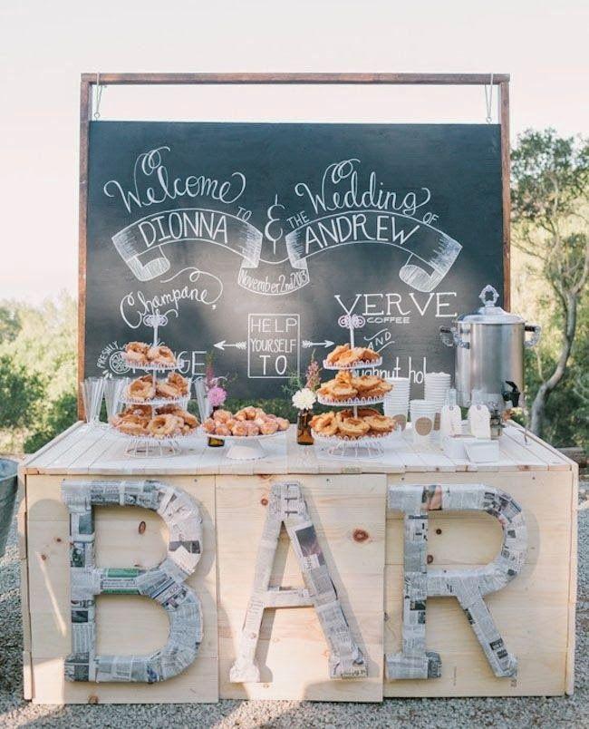 chá bar Lousa Painel Wedding
