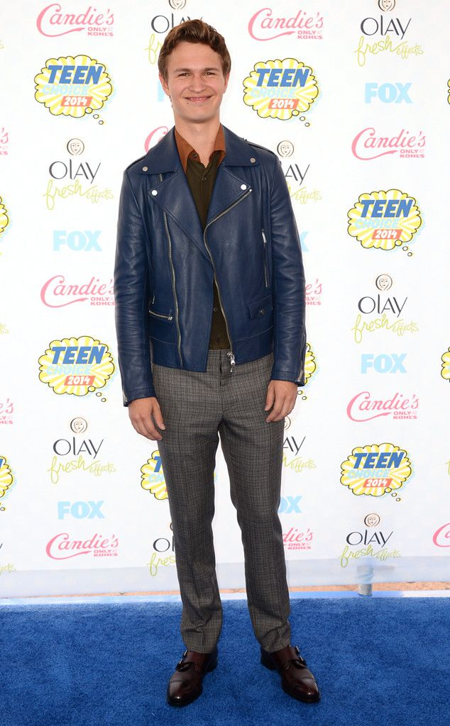 Ansel Elgort from 2014 Teen Choice Awards Red Carpet Arrivals