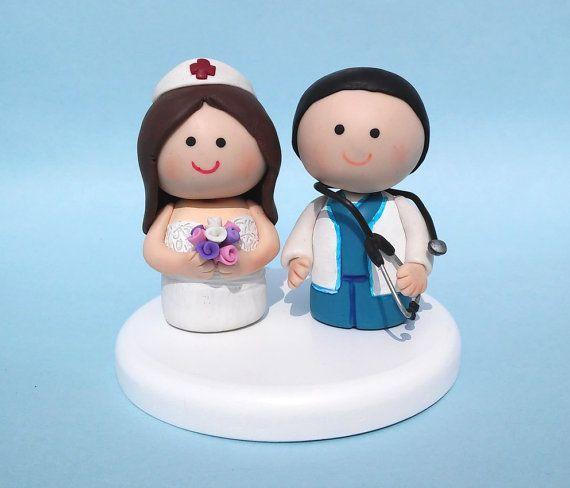 Torta de bodas pastel de cumpleaños de médico enfermera