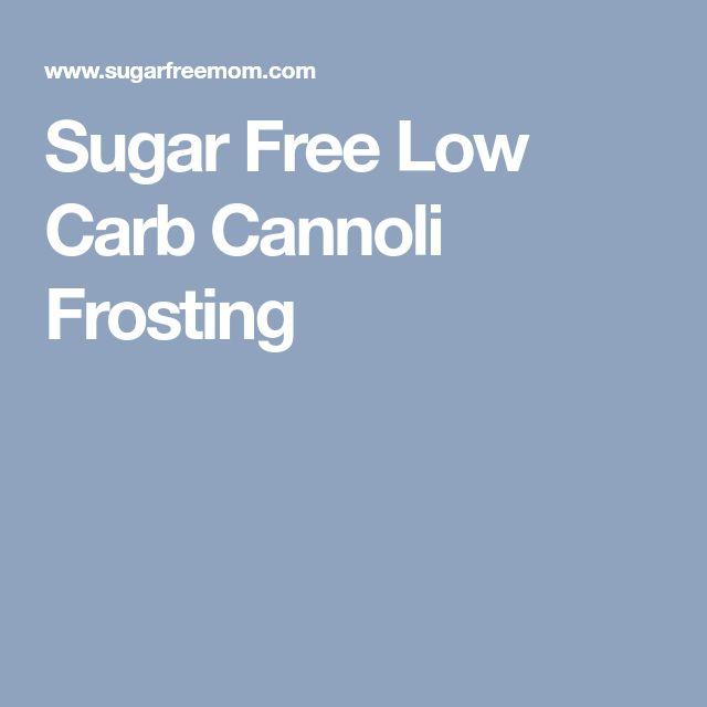 Sugar Free Low Carb Cannoli Frosting