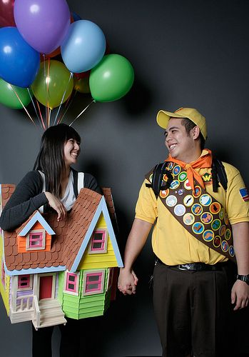 """Disney's Up Halloween Costume ~ My 2yr old grandson laughed immediately! He knew straight away it was """"UP""""!"""