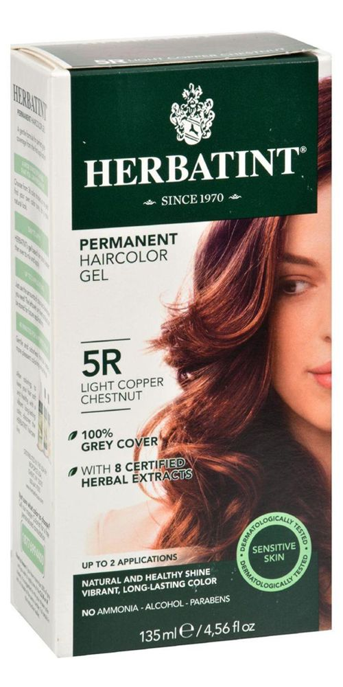 Herbatint Permanent Herbal Hair Colour Gel 5r Light Copper Chestnut 135 Ml