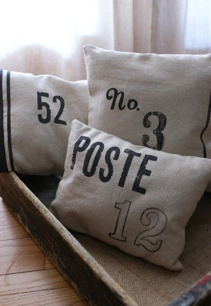 postal pillows/ for chairs or couch/ whatever seating there is for meetings/appointments