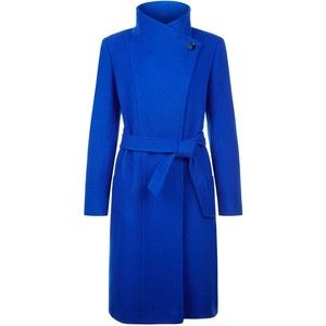 For the Reiss Emile Passion Blue Funnel Neck Coat