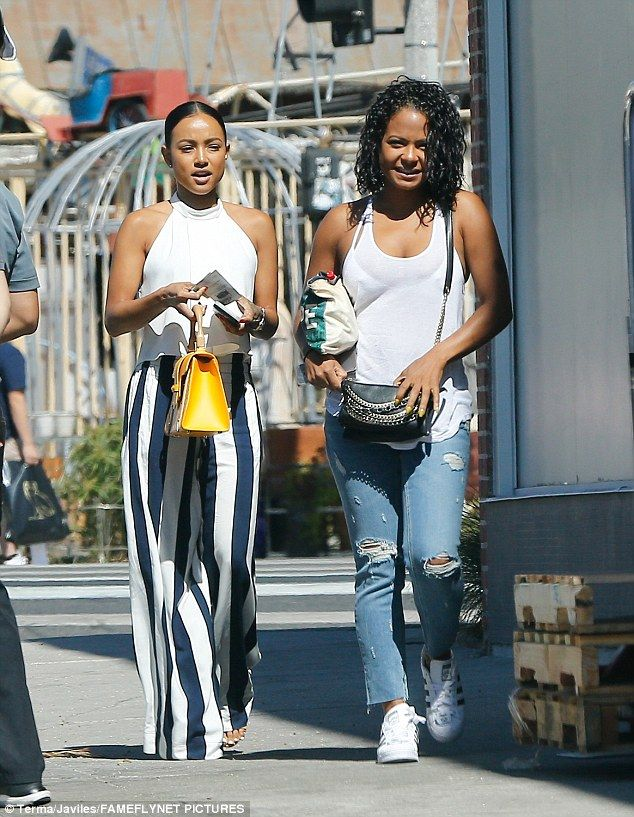 Catching up: Christina Milian and Karrueche Tran were seen grabbing lunch in Beverly Hills on Tuesday, despite having vacationed to Mykonos together shortly before