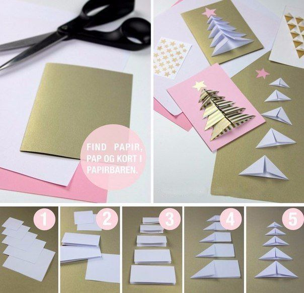 Объемная открытка с елочкой - Поделки с детьми | Деткиподелки