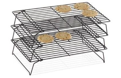 Multi-tiered racks for cooling baked goods. Takes up less counter space!