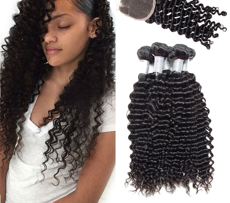 Malaysian Deep Wave With Closure Malaysian Hair With Closure 3 Bundles Malaysian-01    https://www.sishair.com/