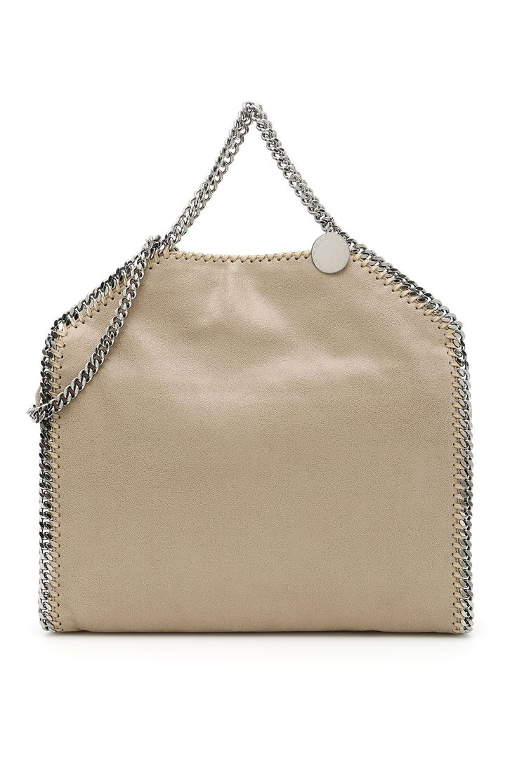 STELLA MCCARTNEY FALABELLA FOLD OVER TOTE BAG. #stellamccartney #bags #shoulder bags #hand bags #leather #tote #lining #