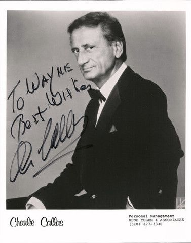 TV Memorabilia Comedian Charlie Callas Autographed Hand Signed Photo - TnTCollectibles