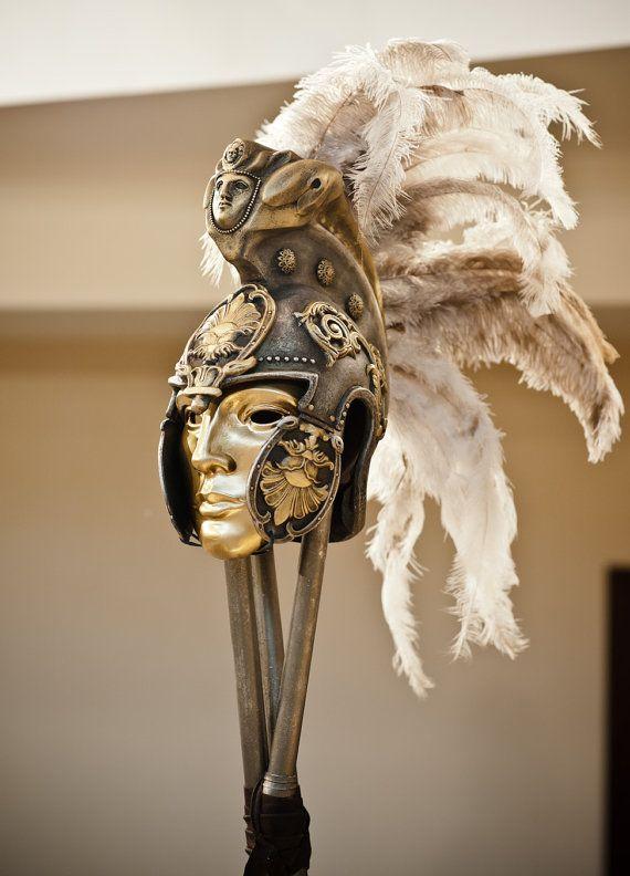 Helmet Mask,Roman Gladiator Helmet,Ancient Roman Bronze Helmet,Bronze Sculpture,Collectibles,Art Quality Museum,Destiny Helmet,Cosplay Prop