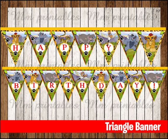 80% OFF SALE The Lion Guard Triangle Banner by mrkitspartyshop