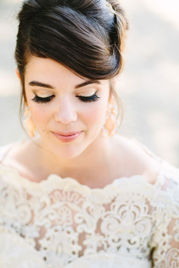 Lace Tea dress by ModCloth | Photo by Mary Costa Photography | Read more -  http://www.100layercake.com/blog/wp-content/uploads/2015/04/DIY-Elysian-Los-Angeles-Wedding