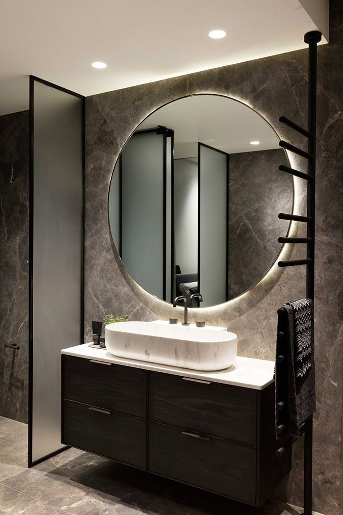Espejos redondos nueva tendencia en ba os decoraci n de - Espejos redondos para banos ...