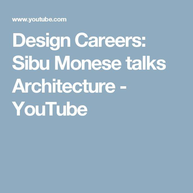 Design Careers: Sibu Monese talks Architecture - YouTube