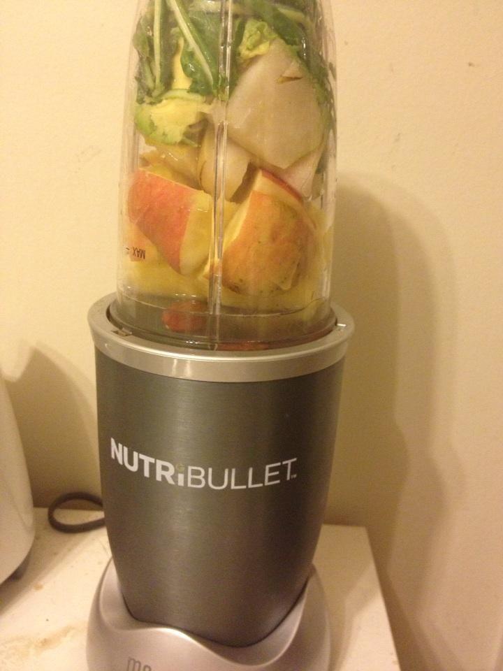 #nutribullet #nutriblast for dinner - kale, avocado, apple, pineapple, pear and almonds #energy