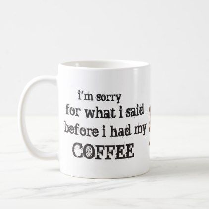 im sorry for... coffee mug - gift for him present idea cyo design