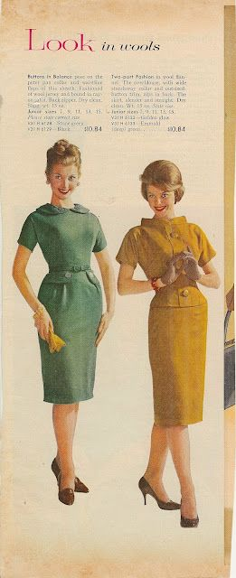 Sears Catalog, Fall & Winter 1960. #Modest doesn't mean frumpy. #fashion #style www.ColleenHammond.com
