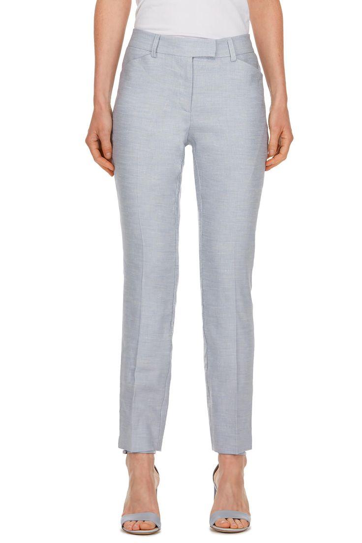 Pantalon urbain en m�lange de lin