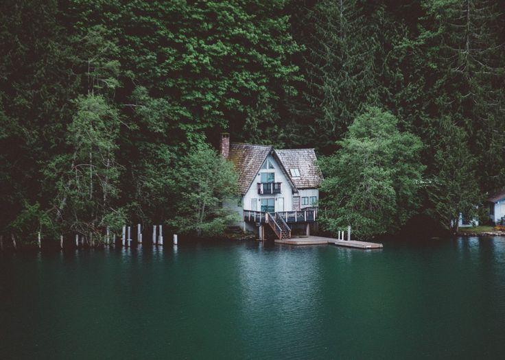 Lake Crescent, Washington;House; Home; woods; cabin;