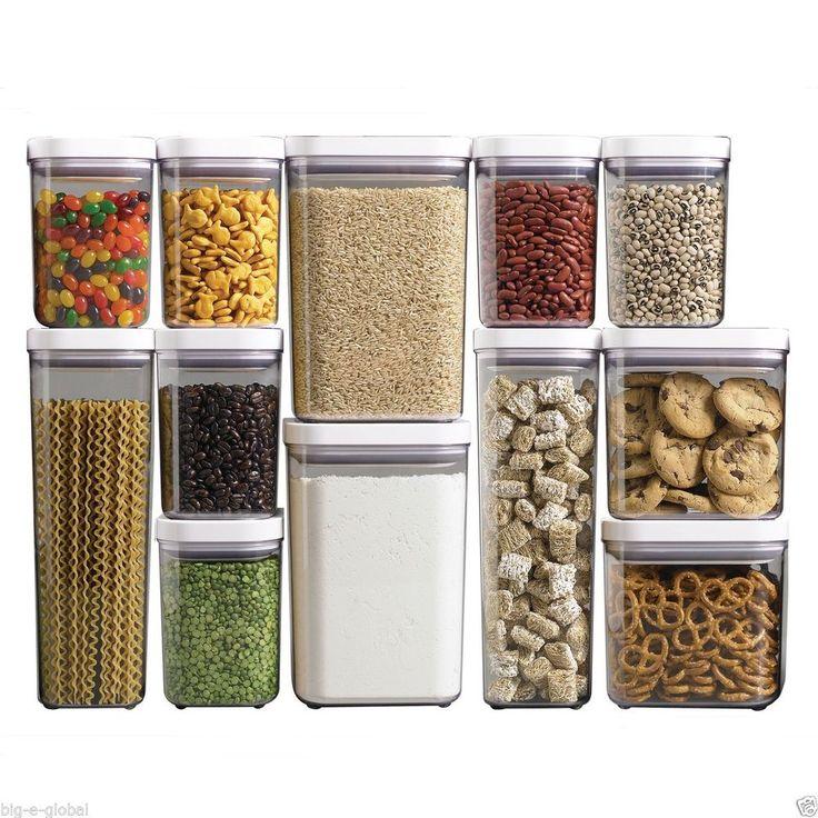OXO Good Grips POP Kitchen Dry Food Storage Container Set Organizer - 12 pc.