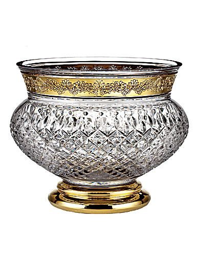 Waterford Lismore Anniversary - Lismore Castle Gilded Bowl