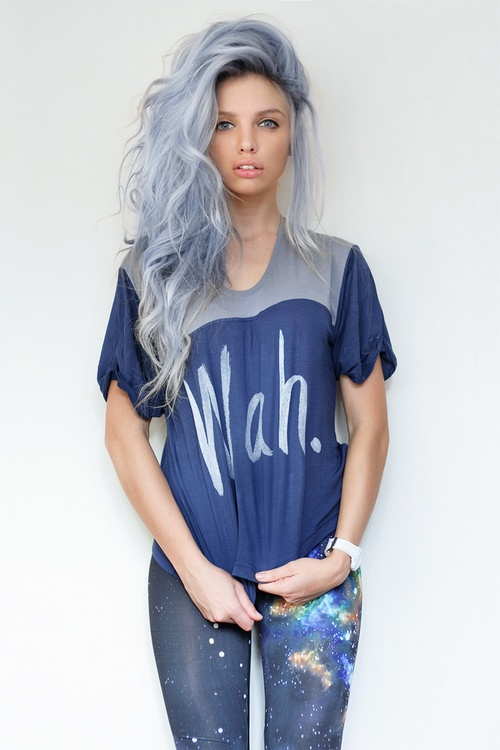 Beautiful Hair, this blue gray lavender pastel color is gorgeous, so rich
