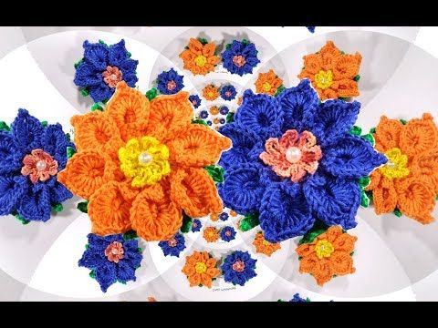 3D crochet flower No 27