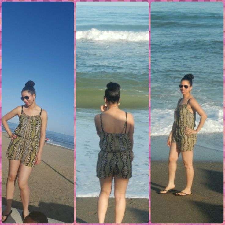 On the beach in Malaga   Spain. I miss this place!! Playsuit: Primark