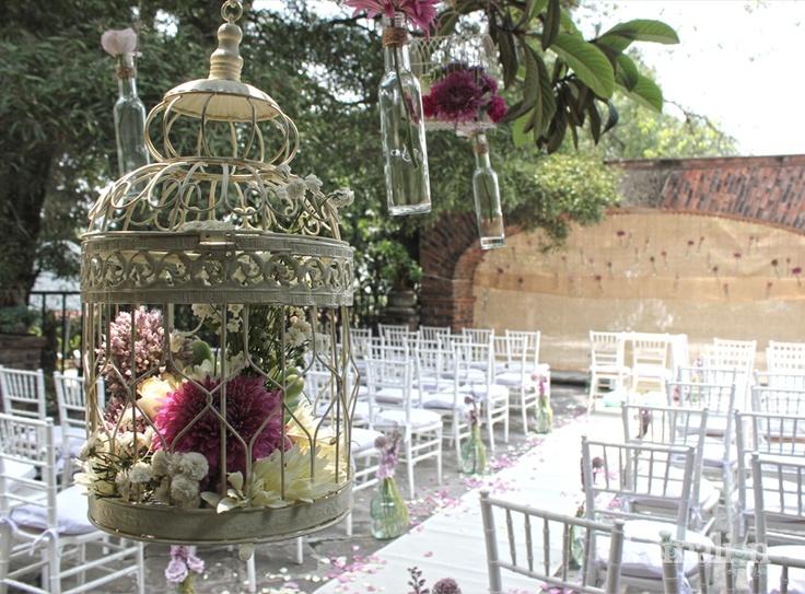 www.kamalion.com.mx - Vintage / Altar / Decor / down the aisle / boda / wedding / cage / jaulas