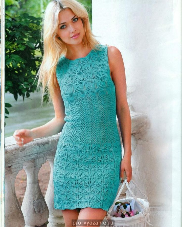 Красивые летние платья, связанные спицами — Рукоделие