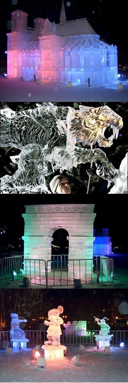 Великолепные ледяные скульптуры