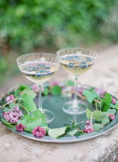 Blueberry cocktails: http://www.stylemepretty.com/2015/06/30/glamorous-french-riviera-wedding-2/ | Photography: Greg Finck - http://www.gregfinck.com/