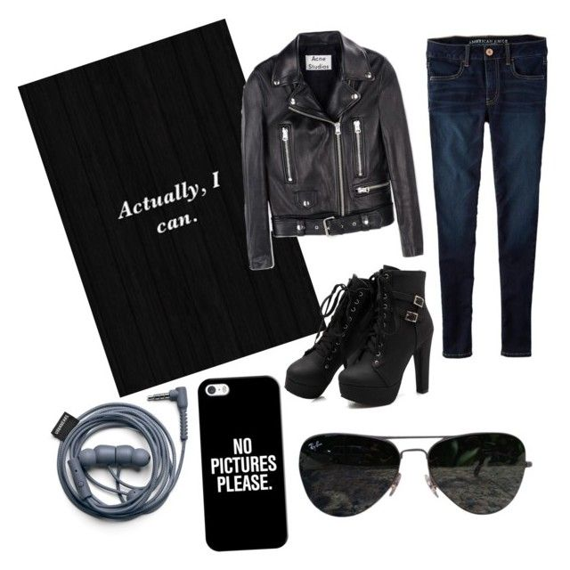 """""""Sunday chilling ☺️"""" by oktaeprimsus on Polyvore featuring Acne Studios, American Eagle Outfitters, Casetify and Ray-Ban"""