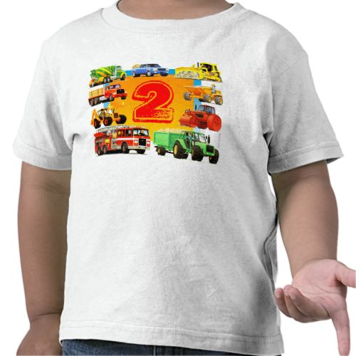 Boy 39 S 2nd Birthday Construction Truck Toddler T Shirt