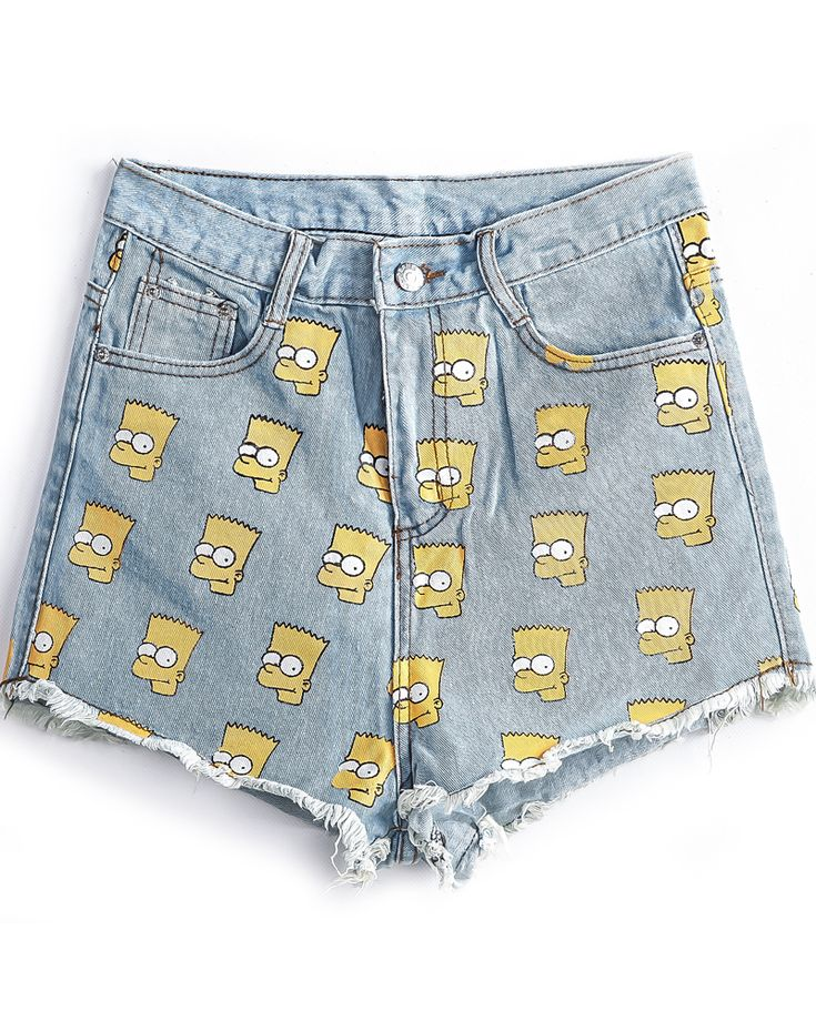 Shop Blue Fringe Simpson Print Denim Shorts online. Sheinside offers Blue Fringe Simpson Print Denim Shorts & more to fit your fashionable needs. Free Shipping Worldwide!
