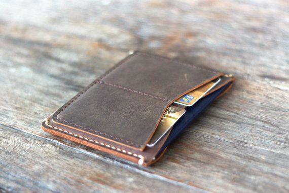 Mens Travel Wallet Passport Wallet Sleeve Minimalist by JooJoobs