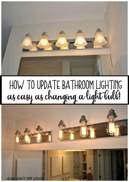 Update bathroom lighting without spending a fortune! It's as easy as changing the bulbs! In 20 minutes, you can go from Victorian to Vintage!