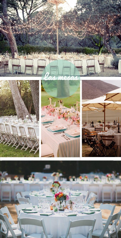Las bodas al aire libre puede estar llena de detalles. Inspiración para una celebración bonita en el campo.
