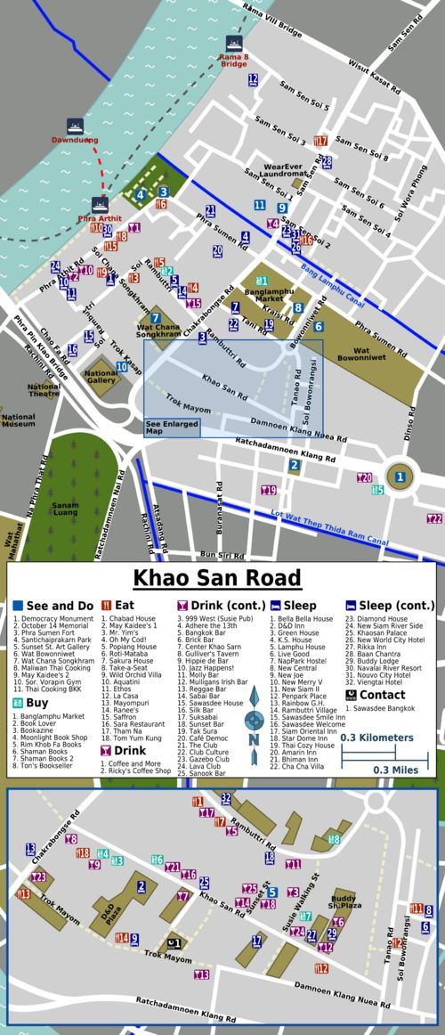 Khao San Road travel guide - Bangkok for one day!
