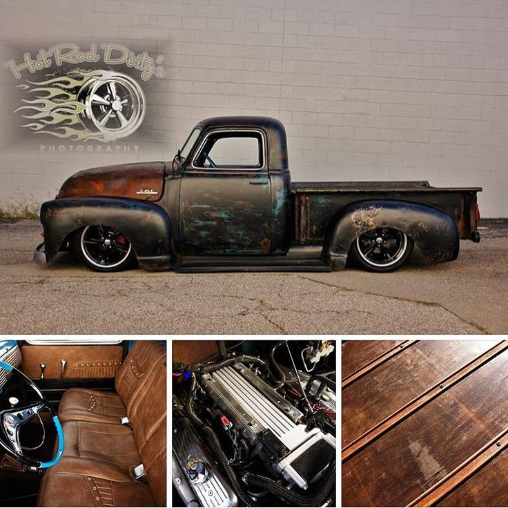 """#FORSALE now on eBay """"Tar Top"""" Slam'd Air Ride Patina 1950 GMC FOR SALE !  On eBay Now!  Item #401206437383 (Click Direct Link on Bio)  Features: Digitally Controlled Ride Tech Air Ride Suspension 60K Mile LT1 5.7 V8 w/ 700R4 Overdrive Transmission Amazing High End Interior, Comfortable and Stunning! Modern Chassis w/ 18"""" Custom Wheels, Wide Rear Slick Satin Cleared Patina Professionally Applied Weathered and Distressed Bed Wood and Strips  Call/Text: 606-776-2886 Email…"""