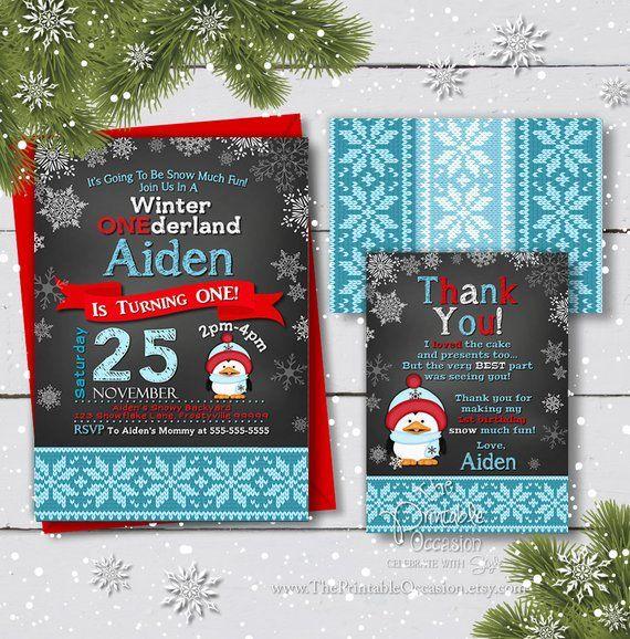 Digital File Winter Wonderland Winter Birthday First Birthday Chalkboard Snowflakes Winter Onederland Chalkboard Christmas Red Green