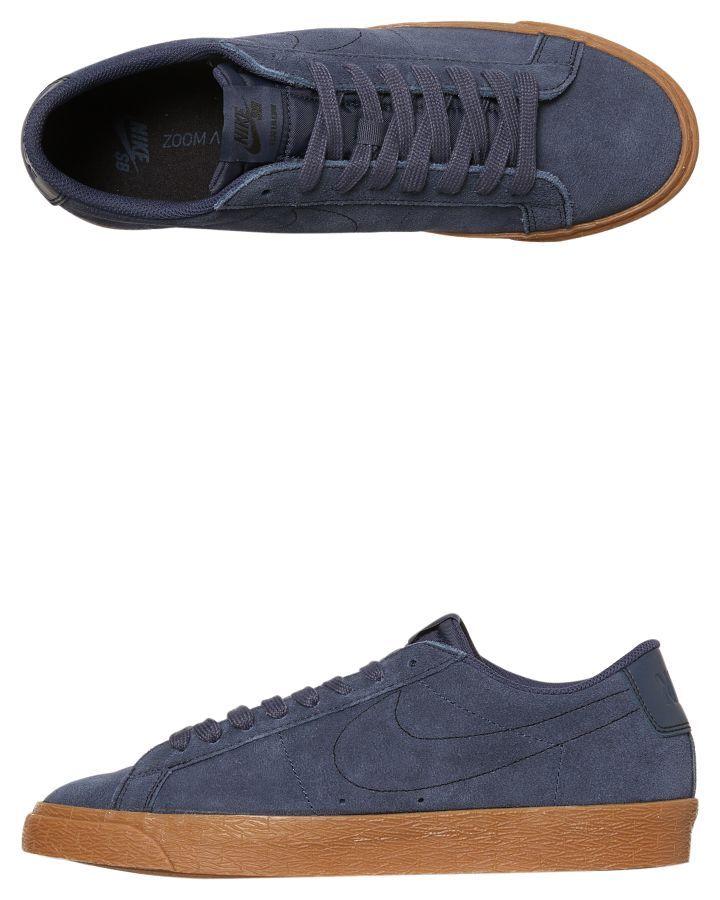 8556053aaf07 Nike Sb Zoom Blazer Low Shoe Thunder Blue Gum