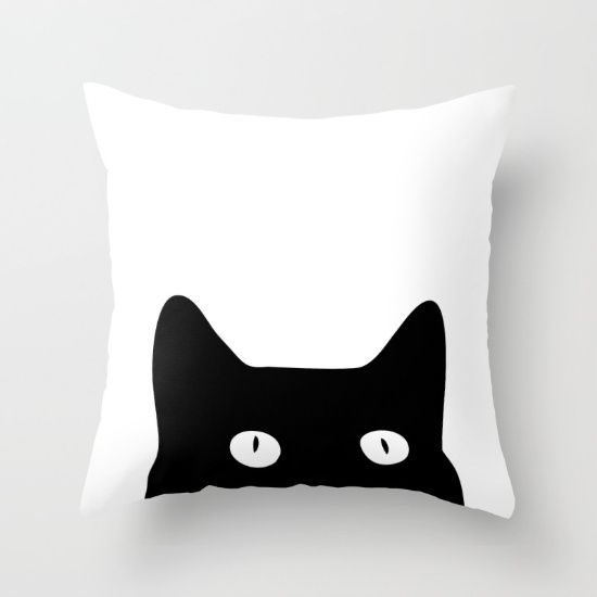 Buy Black Cat Throw Pillow by Good Sense. Worldwide shipping available at Society6.com. Just one of millions of high quality products available.