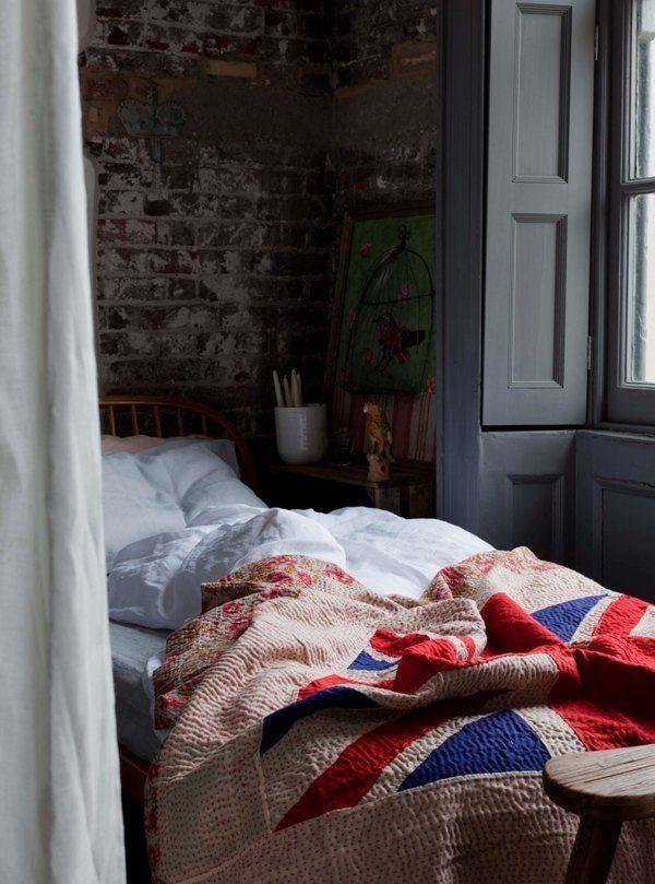Bricks And British Flags · Flag QuiltUnion JackBedroom ...