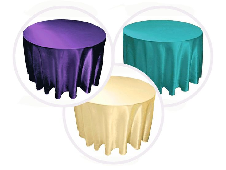"90"" SATIN Round TABLECLOTHS Wedding Party Fundraiser Table Linens Decorations #LeilaniWholesale"