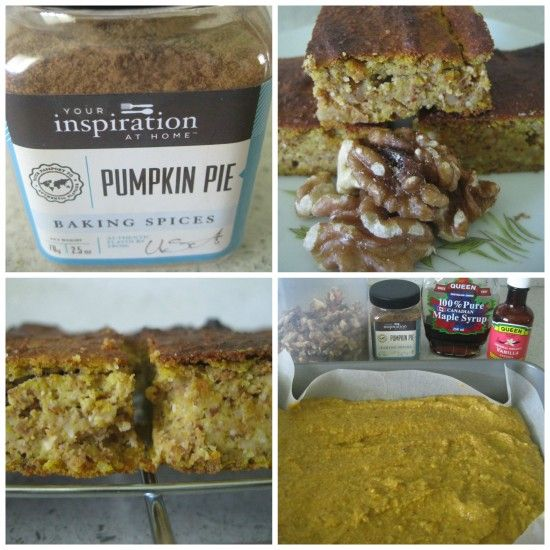 Your Inspiration at Home Paleo Pumpkin and Walnut Slice!