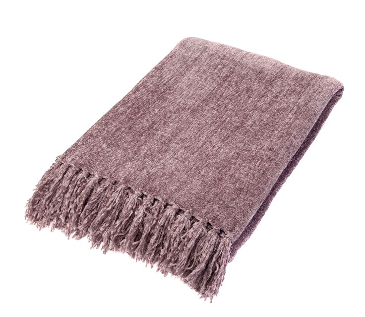 Relax in style with this luxurious chenille throw. Drape over chairs for extra cosy-factor, or spread over a bed to give it a new look. Priced at £18