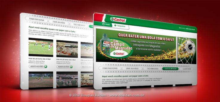 Site Castrol | Douglas Baldan - Online Portfolio | Criar sites, blogs, Templates de Wordpress, Freelancer, layout