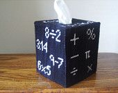 Math Rocks Tissue Box Cover - teacher Classroom - Classroom Decor